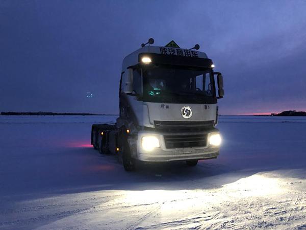 陜汽商用車EBS、ESC黑河寒區試驗于3月16日取得圓滿勝利